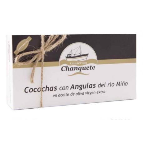 Cocochas con Angulas del Río Miño en AOVE Conservas Chanquete