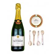 Pack Taittinger Brut Réserve, Caviar Ecológico Riofrío 120g y 4 cucharillas