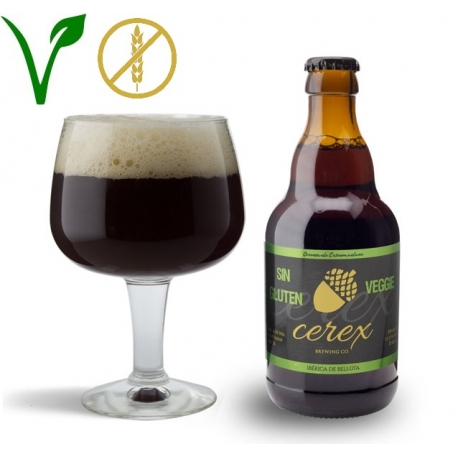 Cerveza Cerex Ibérica de Bellota Sin Gluten Vegetariana